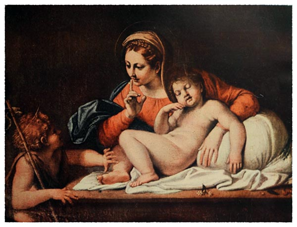 Annibale Carracci 1560-1609. Virgin and Sleeping Child (Louvre)