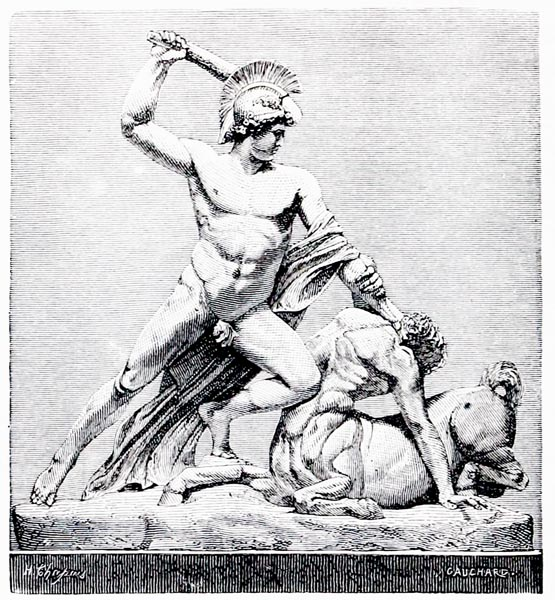 Theseus Vanquishing the Minotaur, by Canova (Vienna)
