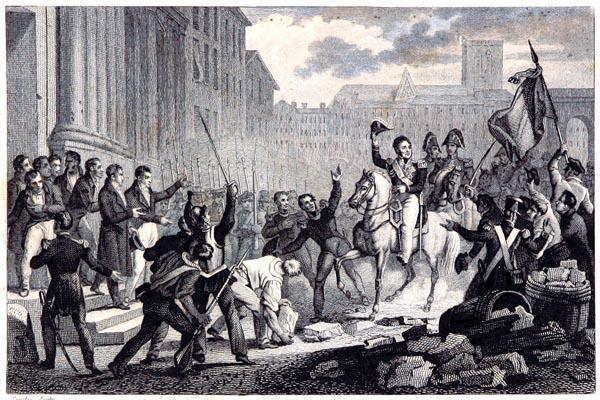 Arrivée du Duc d'Orléans à l'Hôtel de Ville