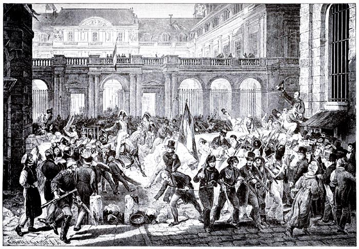 The Duke of Orleans Proceeds from the Palais Royal to the Hôtel de Ville on July 31, 1830