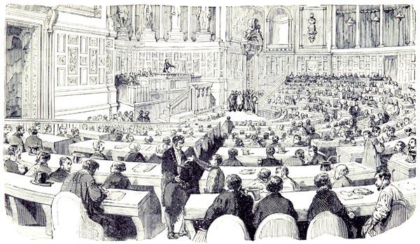 Séance au Luxembourg sur l'Organisation du Travail, en 1818