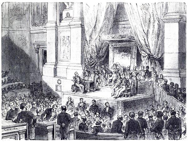 Ouverture des Chambres le 27 Décembre 1847