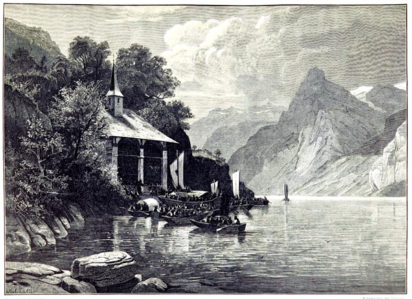 Tell's Chapel on the Tellenplatte, Bay of Uri