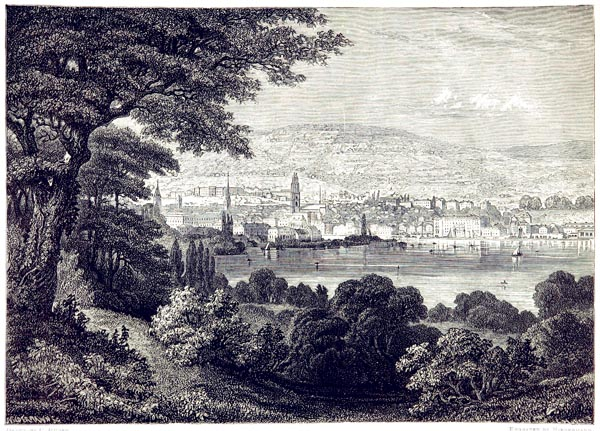 Zurich and the Zurichberg