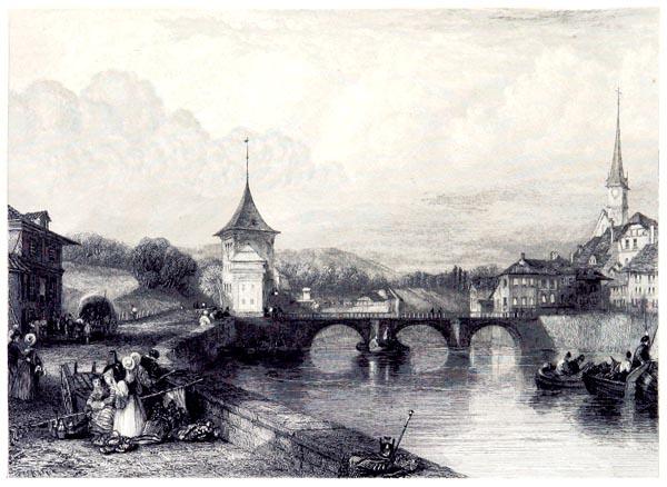 Pont et Entree de Berne
