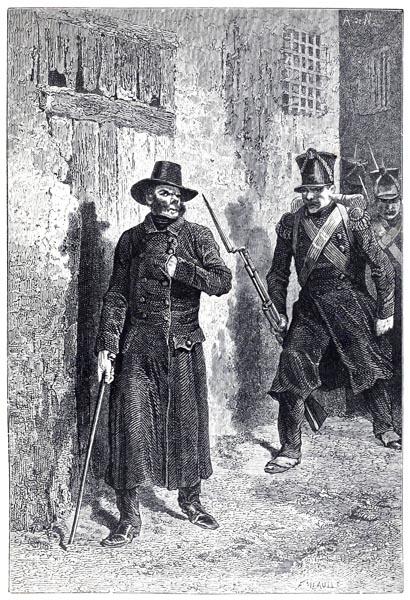 Javert a la poursite de Jean Valjean et de Cosette, A. de Neuville (Les Misérables p217 vol. 02)
