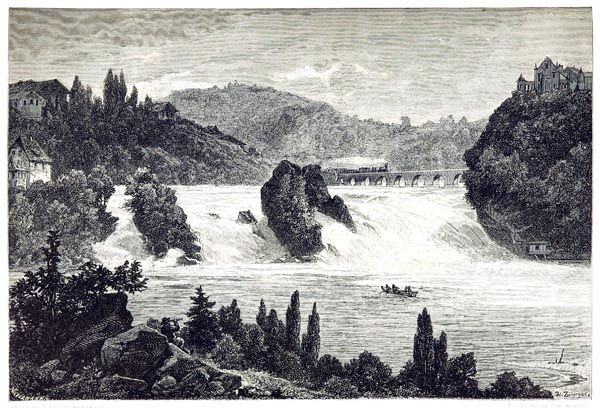 Falls of the Rhine at Schaffhausen