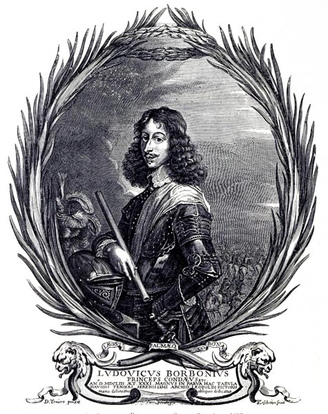 D. Téniers - Portrait du Grande Condé en 1653, Gravé par V. Lisebetten