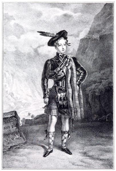 Henri V en Costume de Highlander, Site de Glen Croe