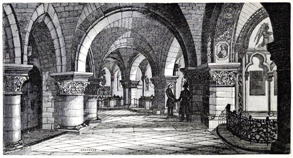 Caveaux des Sépultures Royales, dans l'Église Royale de Saint-Denis