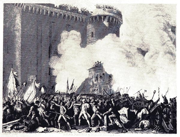 Attack of the Bastille and Murder of de Launay