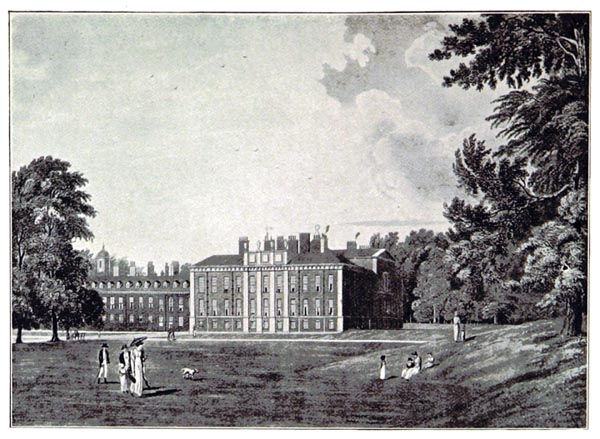 South Front of Kensington Palace in 1819