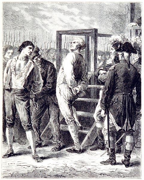 Danton et Camille Desmoulins Devant l'Échafaud