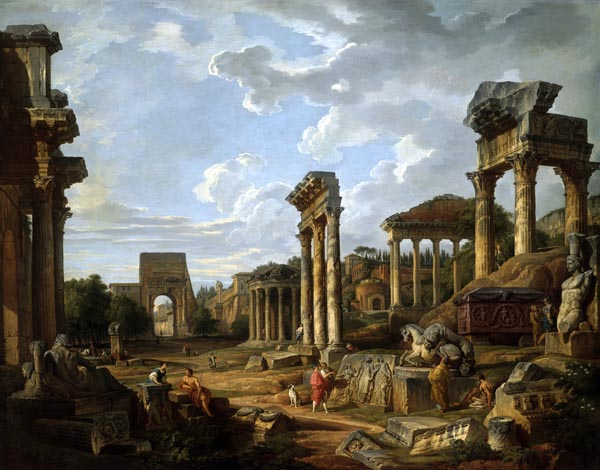 A Capriccio of the Roman Forum