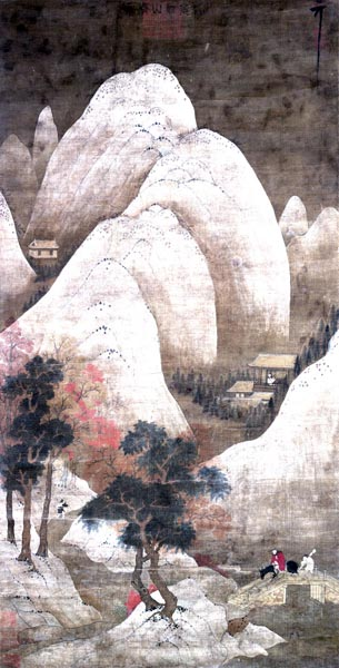 Clearing after Snow in Streams and Mountains, Yang Sheng (17th century)