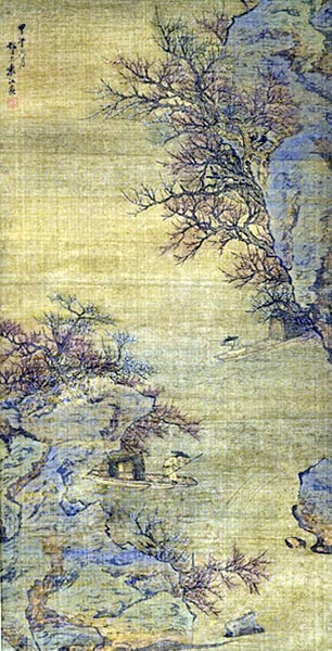 River-Crossing in the Spring, Yuan Jiang (1691 - 1746)