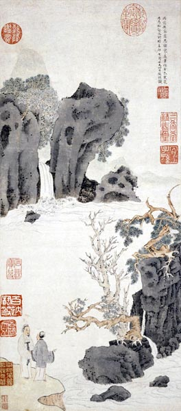 Old Trees by a Cold Waterfall, Wen Zhengming (1470 - 1559)