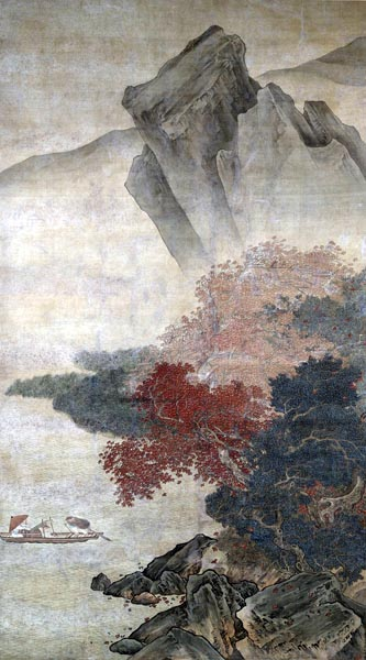 Autumn Storm on the River, Liu Songnian (16th century)