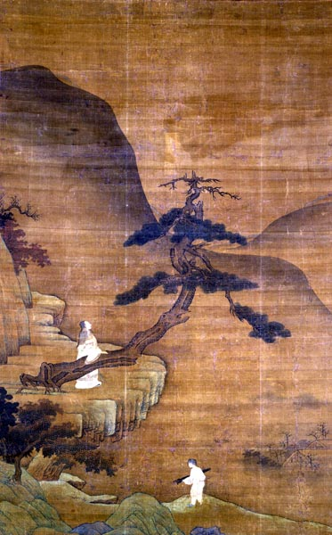 Tao Yuanming and the Pine Tree, early 15th century