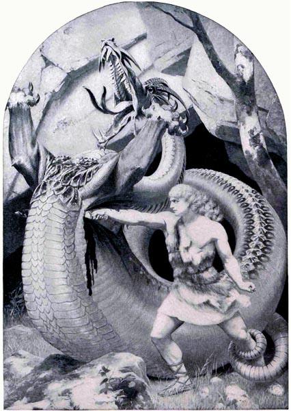 Siegfried slaying the dragon