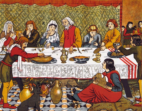 Dinner in the Olden Times