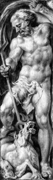 Neptune Stabbing a Sea Horse