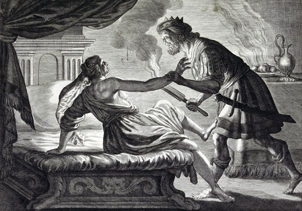 Cinyras Discovers that he has Slept with his Daughter Myrrha