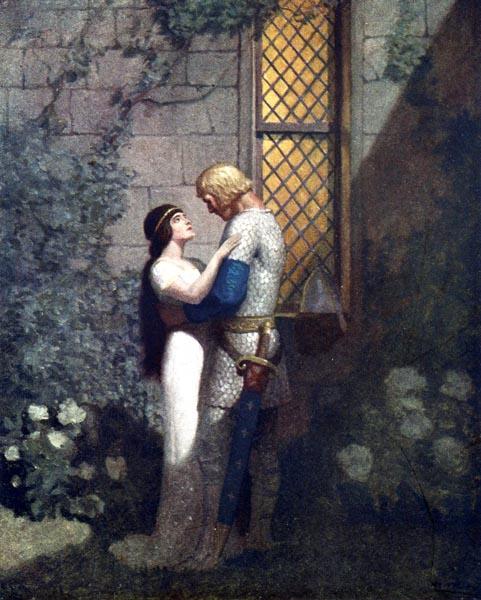 Kiss me now gently, and I shall go hence