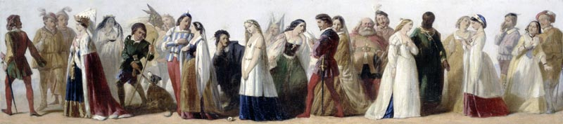 A Procession of Shakespeare Characters