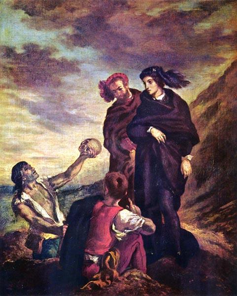 Hamlet et Horatio au Cimetière