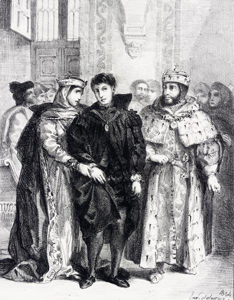 La Reine s'Efforce de Consoler Hamlet