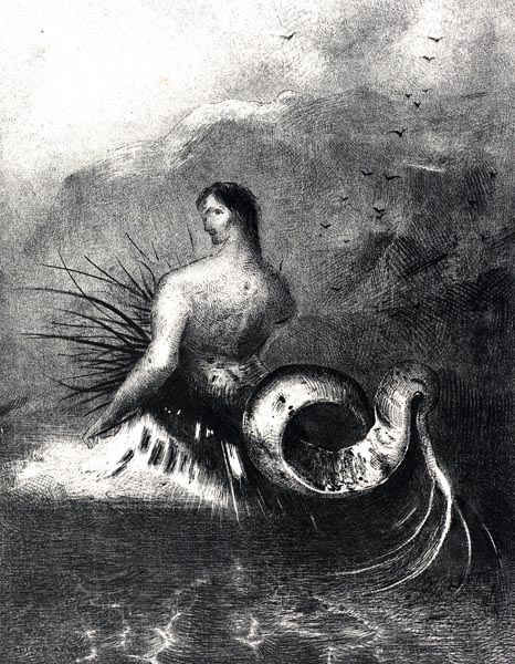 The Siren clothed in barbs, emerged from the waves