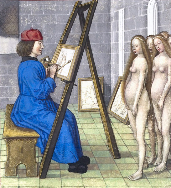 Zeuxis with his models