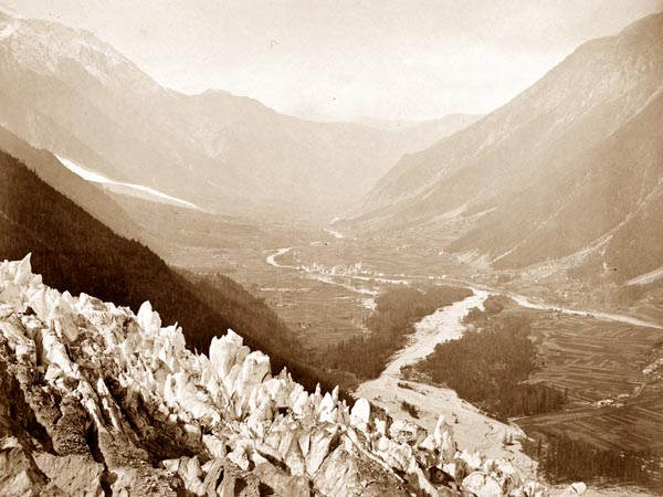 The Valley of Chamonix, view of Chapeau