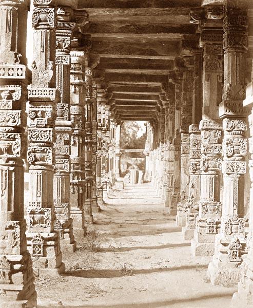 Interior of the Hindu Temple in Kootub