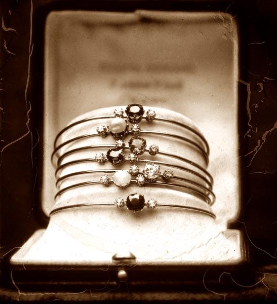 Gold bracelets with Precious Gems