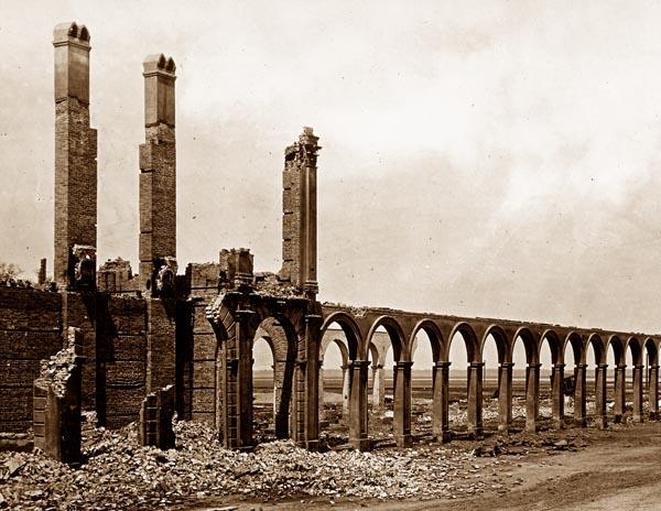 Ruins of the Railroad Depot, Charleston, South Carolina [Detail]