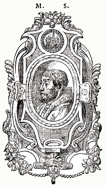 Engraving of Scève ( M. S.)