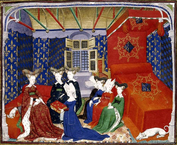 Christine de Pisan presenting her book to queen Isabeau of Bavaria