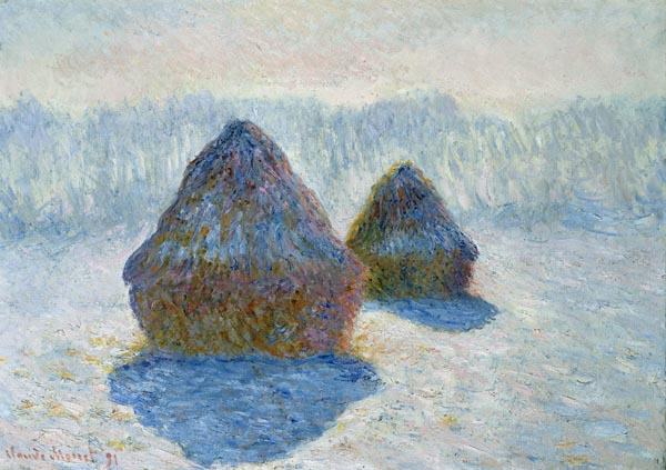 Haystacks (Effect of Snow and Sun)