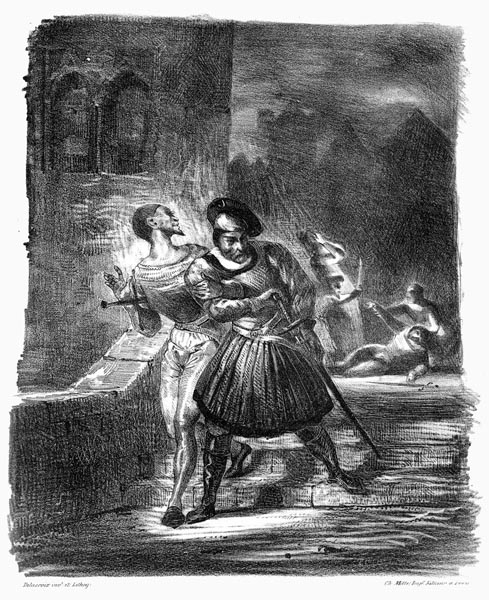 Mephistopheles and Faust Fleeing After the Duel