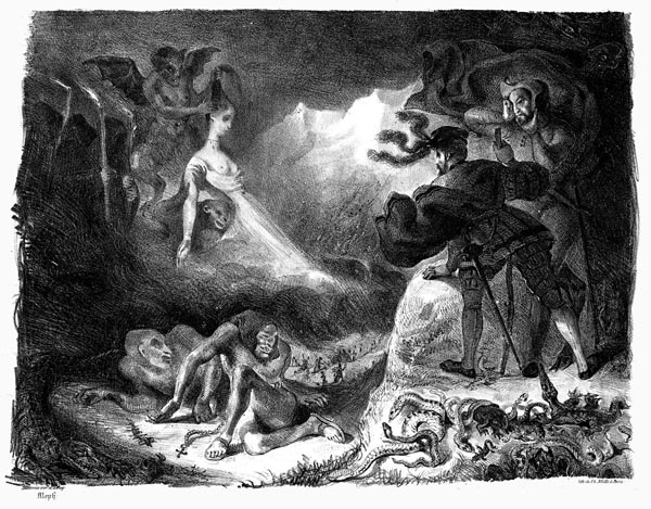 Marguerite's Apparition Appearing to Faust