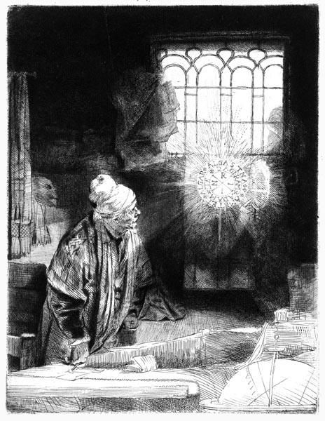 Faust in His Studio, Rembrandt Harmensz van Rijn
