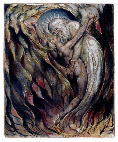 Jerusalem - The Emanation of the Giant Albion, Plate 99 [Detail], William Blake