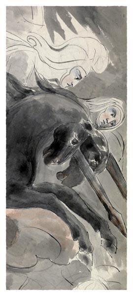 The Poems of Thomas Gray, Design 73 [Adaptation, Detail], William Blake