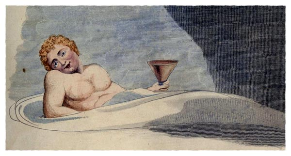 Young's Night Thoughts, Page 27 [Detail], William Blake