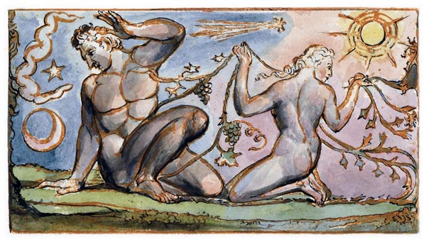 Jerusalem - The Emanation of the Giant Albion, Plate 85 [Detail], William Blake