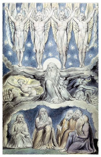 Illustrations of the Book of Job, Plate 15, William Blake