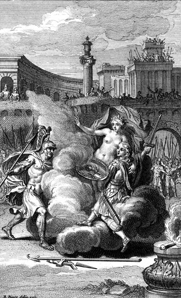 The duel between Menelaus and Paris