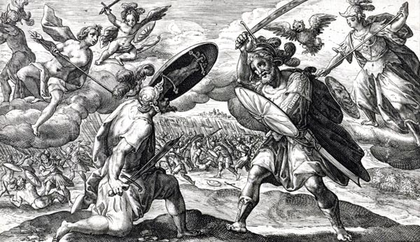analysis of diomedes fights the gods Apollo calls the war god ares to his side, asking him to remove diomedes from  combat ares drives the trojans forward, lending them his fighting spirit.